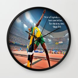 An Insane Olympian (Quote) Wall Clock