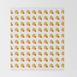 Pixel Taco Throw Blanket