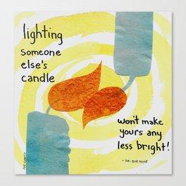 Lighting candles Canvas Print
