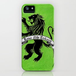 Amazon Etruria's green flag iPhone Case