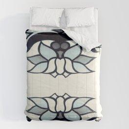 Retro Lotus  Comforters