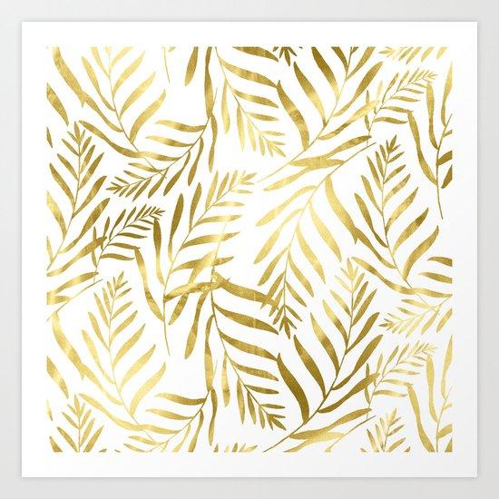 Gold Leaves Art Print