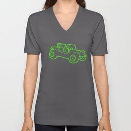 Beach Buggy Retro Cool Vdub Beetle Dune Car T-Shirts Unisex V-Neck