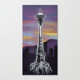 Rooted in Seattle 1 Canvas Print