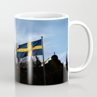 stockholm Mugs featuring Stockholm by Mark Hill