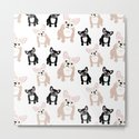 Cute French Bulldog Pattern by antiqueimages