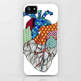 Geometric Heart iPhone Case