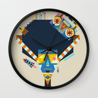 70s Wall Clocks featuring 70s by Jaye Kang