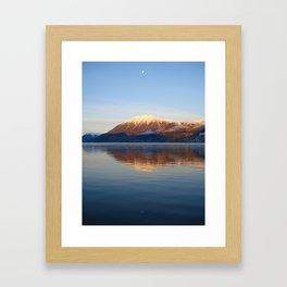 Moonlight Reflection on Bennett Lake, Carcross, Yukon Canada Framed Art Print