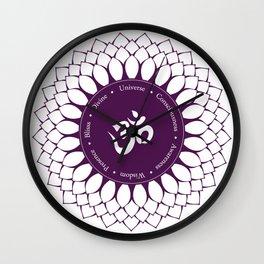 Crown Chakra #48w Wall Clock