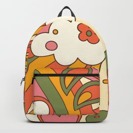 distorted groovy pattern Backpack