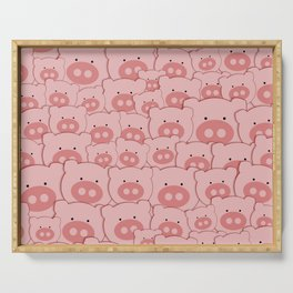 Pink Piggy Pigs Serving Tray