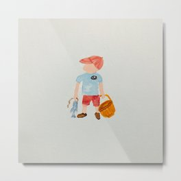Nantucket Boy Summer Holiday Baby Boy Toddler Metal Print