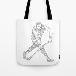 Field Hockey Player Doodle Tote Bag
