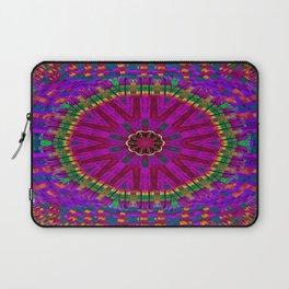 Peacock flower in colors Laptop Sleeve