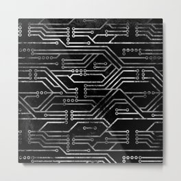 Circuit, tech electronics Metal Print