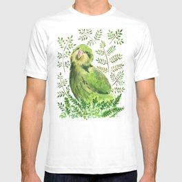 Kakapo in the ferns T-shirt