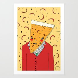 Pizza Head Art Print