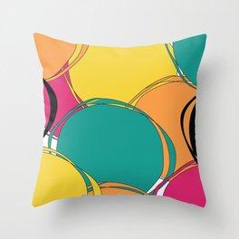 Abstract Circls Throw Pillow