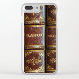 Shakespeare books Clear iPhone Case