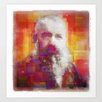 monet Art Prints featuring Claude Monet by Steve W Schwartz Art