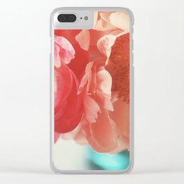 Paeonia #4 Clear iPhone Case