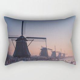 Sunrise at Kinderdijk II Rectangular Pillow