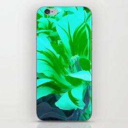 seafoam green tulips iPhone Skin
