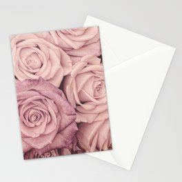 Some People Grumble - Pink Rose Pattern - Roses Stationery Cards