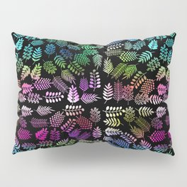 Colorful branches and leaves 1 Pillow Sham