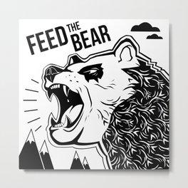 Bears and Mountains Metal Print