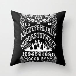 Death Moth Ouija Throw Pillow