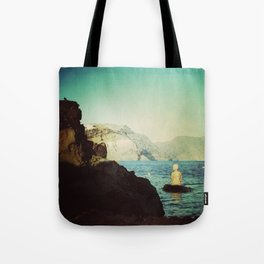 greek girl loves you Tote Bag