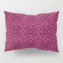 Black and Pink Yarrow Floral Pillow Sham
