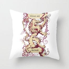 Lion - Hear me roar Throw Pillow