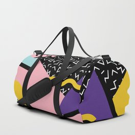 Memphis Pattern 23 - 80s Retro - Pastel Colors Duffle Bag