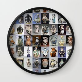 Picasso Ceramic Pitchers Wall Clock