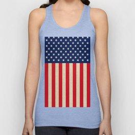 USA faux burlap flag Unisex Tank Top
