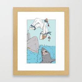Shark Parkour Framed Art Print