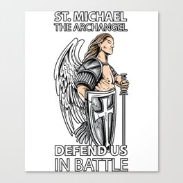 St Michael the Archangel Saints Angel Catholic tee Canvas Print