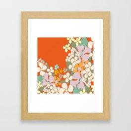 Florals Crowding Framed Art Print