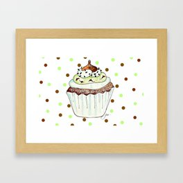 Chocolate Mint Cupcake Framed Art Print