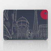 blueprint iPad Cases featuring Paris Blueprint by ralexandertrejo