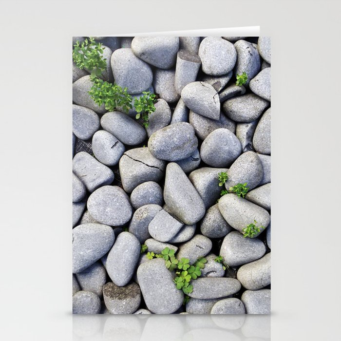 Sea Stones Gray Rocks Texture Pattern Stationery Cards By Staypositivedesign