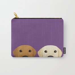 Tan Lab & Yellow Lab Carry-All Pouch