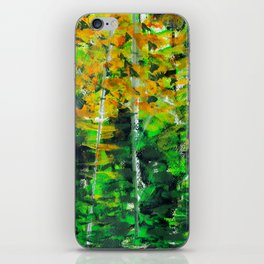 """Autumn Woodland"" Original Painting by Julia Barnickle iPhone Skin"