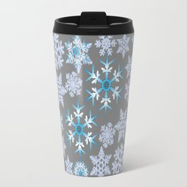 GOLD  GARLAND & SNOWFLAKES   RED AMARYLLIS FLOWERS CHRISTMAS ART Travel Mug