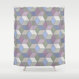 Cool Pastel Diamonds Shower Curtain
