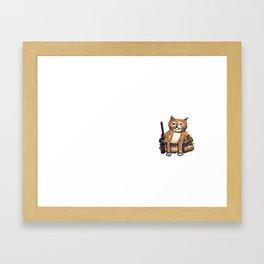 Hoppi the cat Framed Art Print