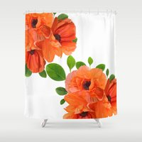 poppies Shower Curtains featuring Poppies by Heaven7
